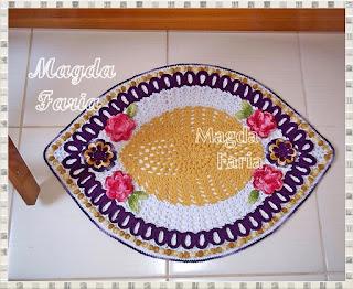 tapete  croche  barbante  croche barroco  presentes  casa  decoração  flores  infantil