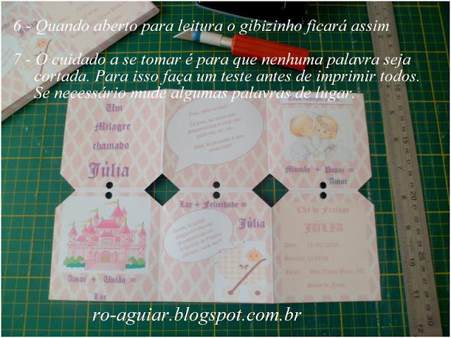 convite chá-de-fraldas original - bordado com PAP