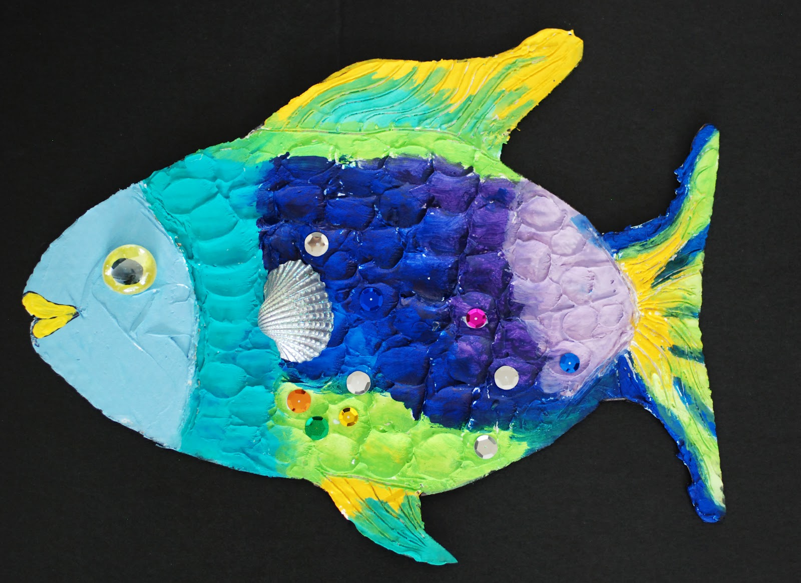 That artist woman how to make a rainbow fish for How to make fish