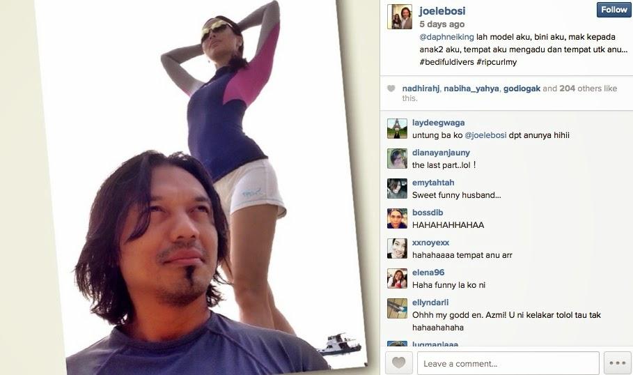 WOW Tempat untuk Anu Caption IG suami Daphne Iking