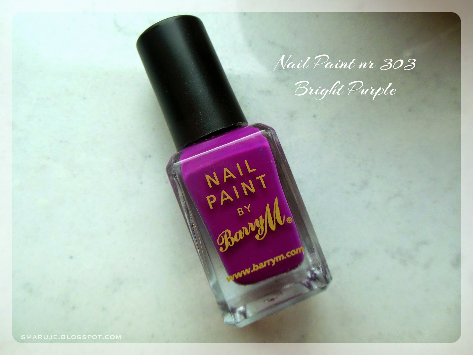 Szałowy fiolet od BarryM: Nail Paint nr 303 Bright Purple