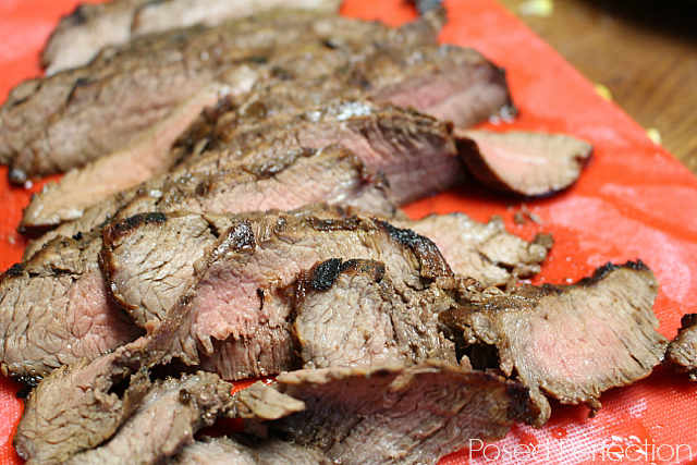 Marinated Flank Steak Sliced Thin