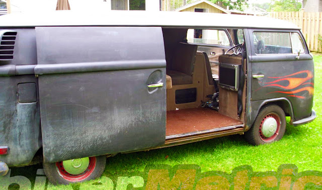 1972 vw microbus rat rod interior
