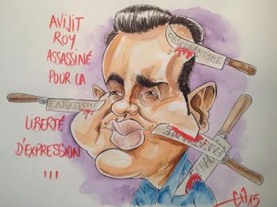 Caricature Avijit Roy -Guillaume Néel©