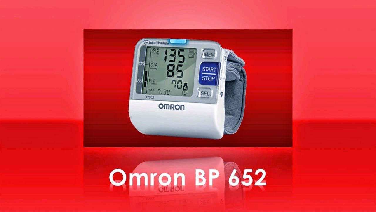 OMRON 7 SERIES WRIST BLOOD PRESSURE MONITOR BP652 INSTRUCTION MANUAL