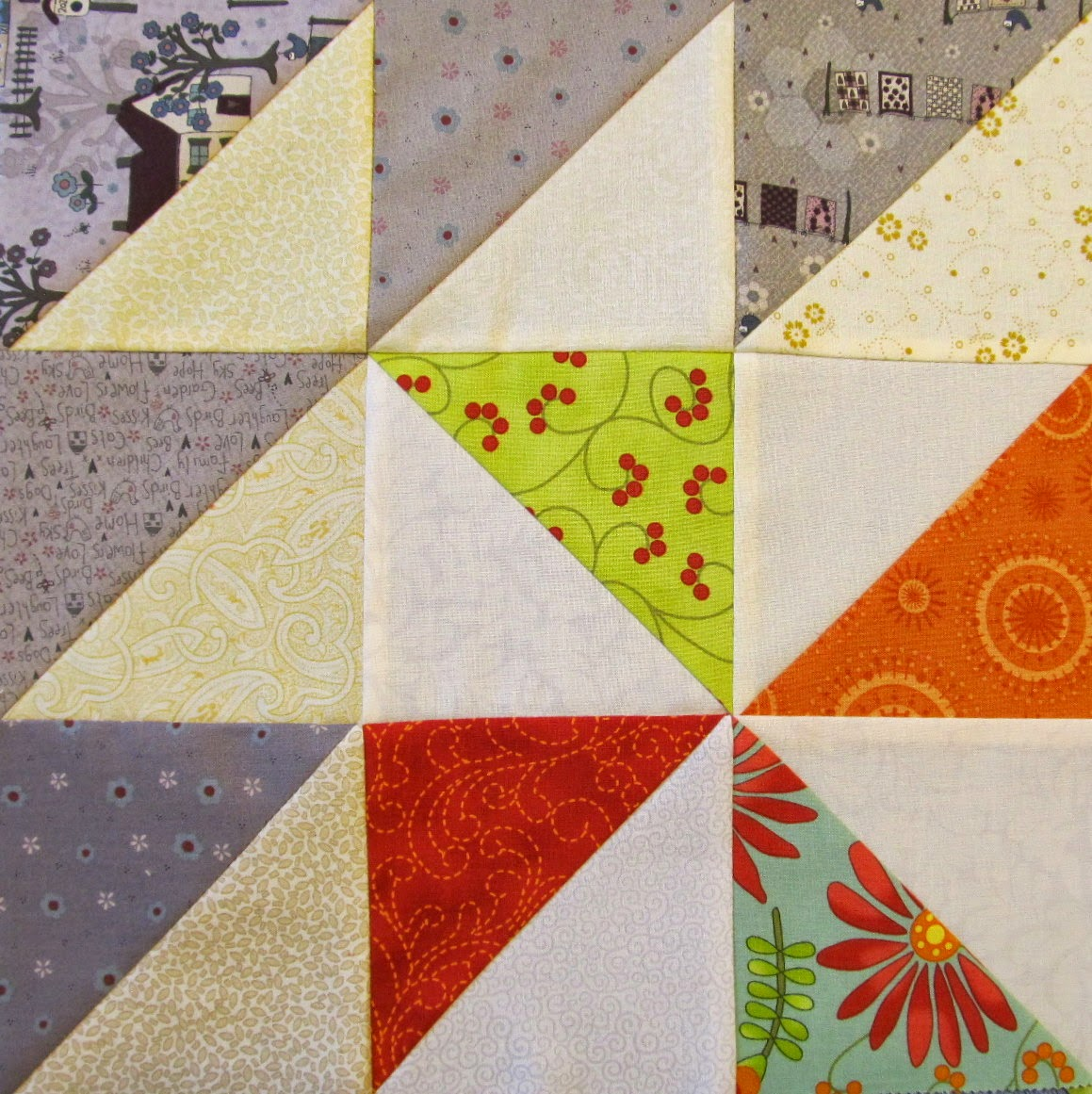 Scrappy Triangle Quilt Pattern Tutorial