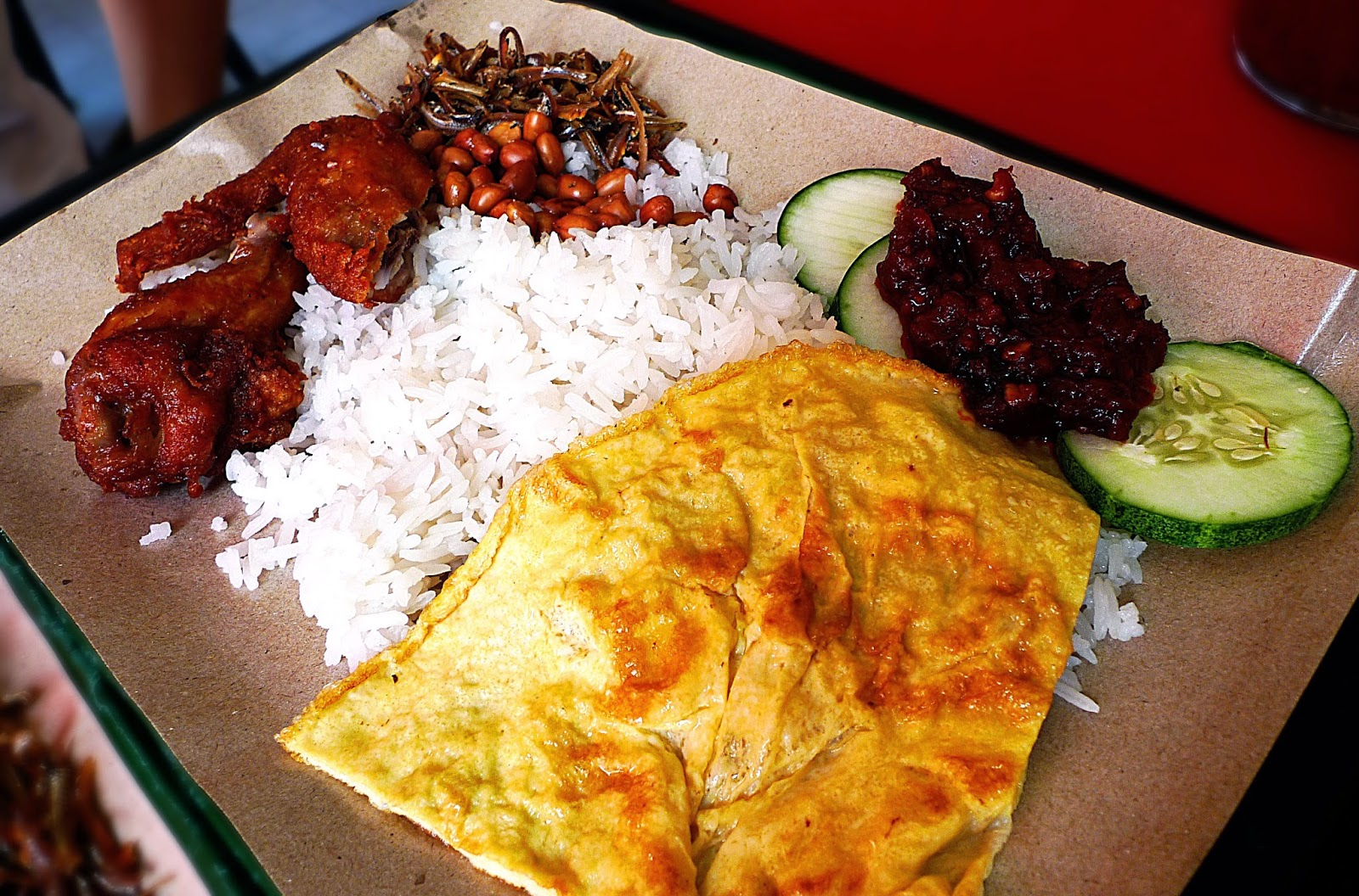 Nasi lemak wing set