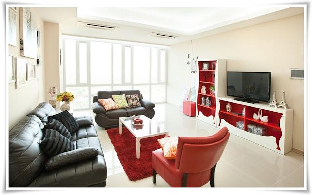 Phòng khách căn hộ Imperia An Phú 135m