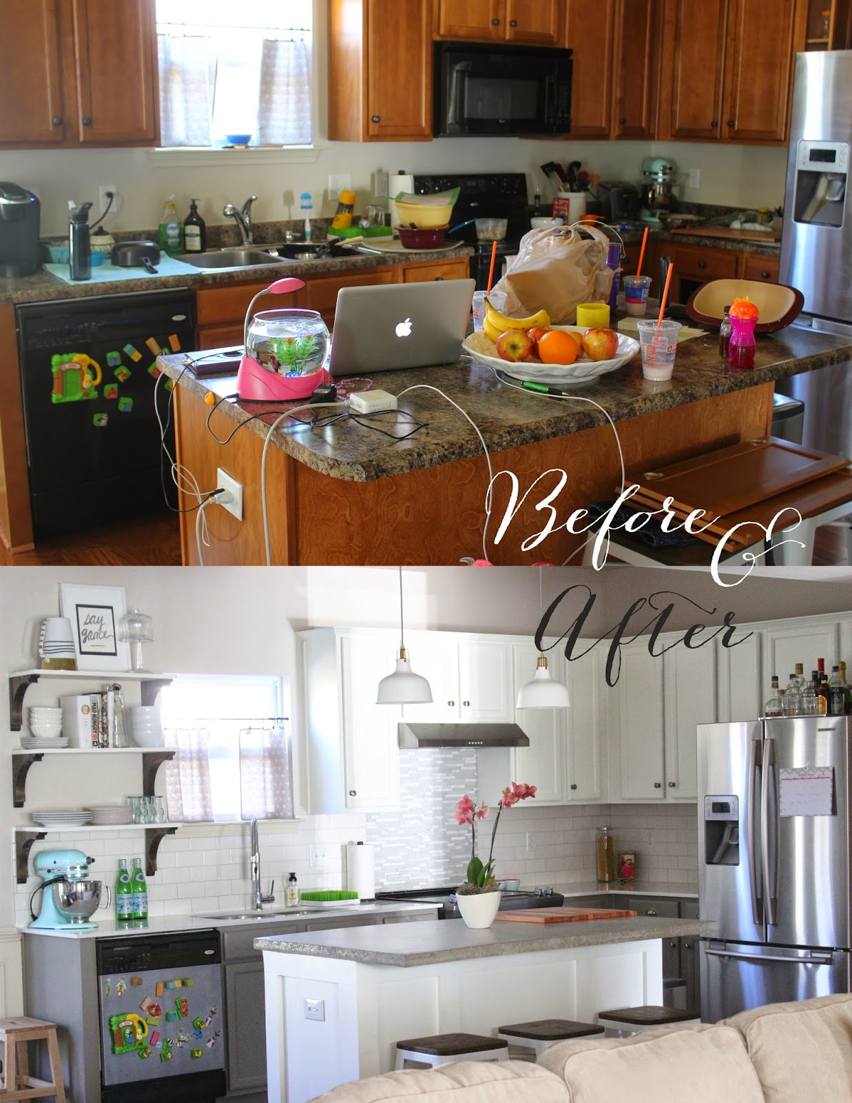 Love and lion kitchen redo before after for I want to redo my kitchen