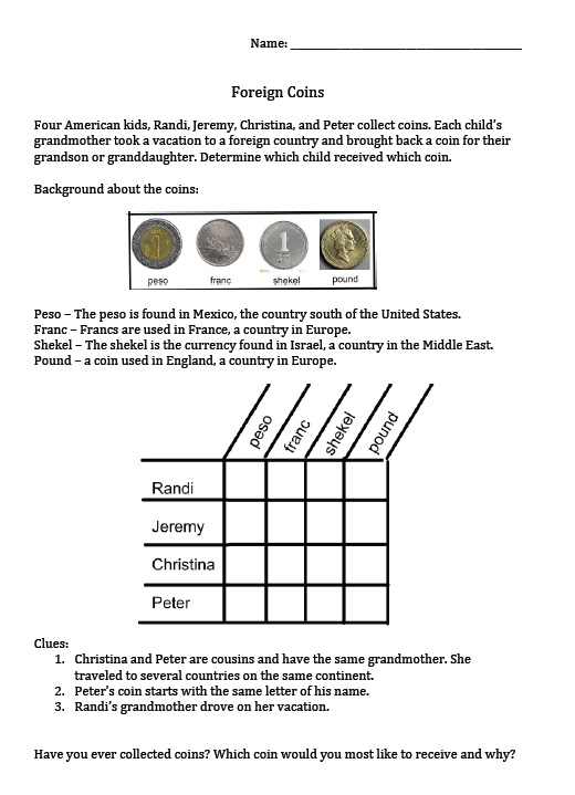 2nd Grade Math Logic Puzzles fun math puzzles and on – Math Logic Puzzles Worksheets