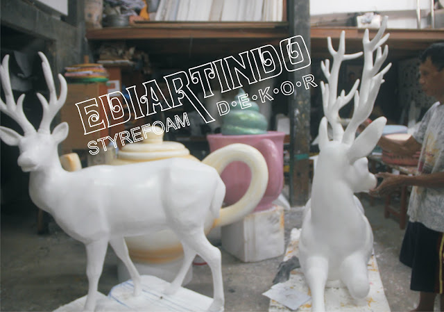 Pembuatan Patung Rusa Bahan Dasar styrofoam