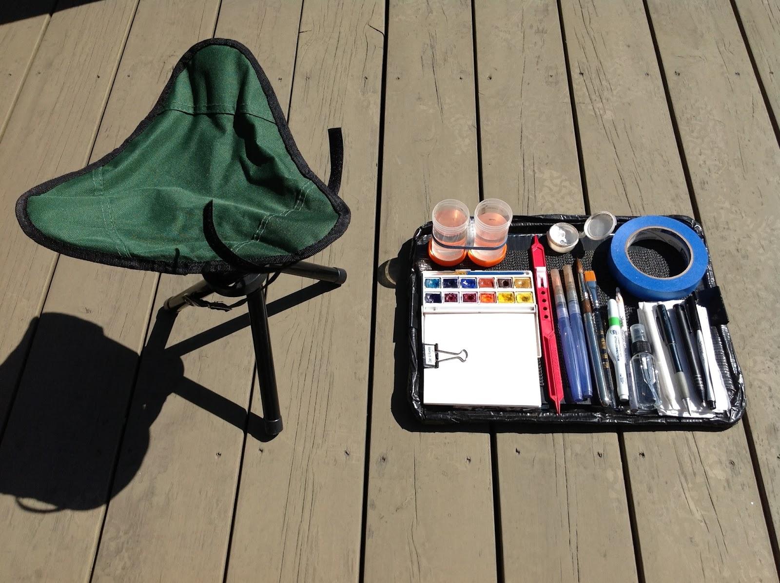 art sur le motif mat riel pour peindre plein air l 39 aquarelle. Black Bedroom Furniture Sets. Home Design Ideas