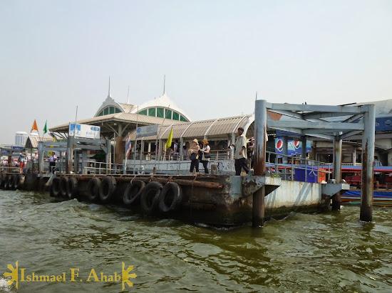 Tha Chang Pier along Chao Phraya River, Bangkok