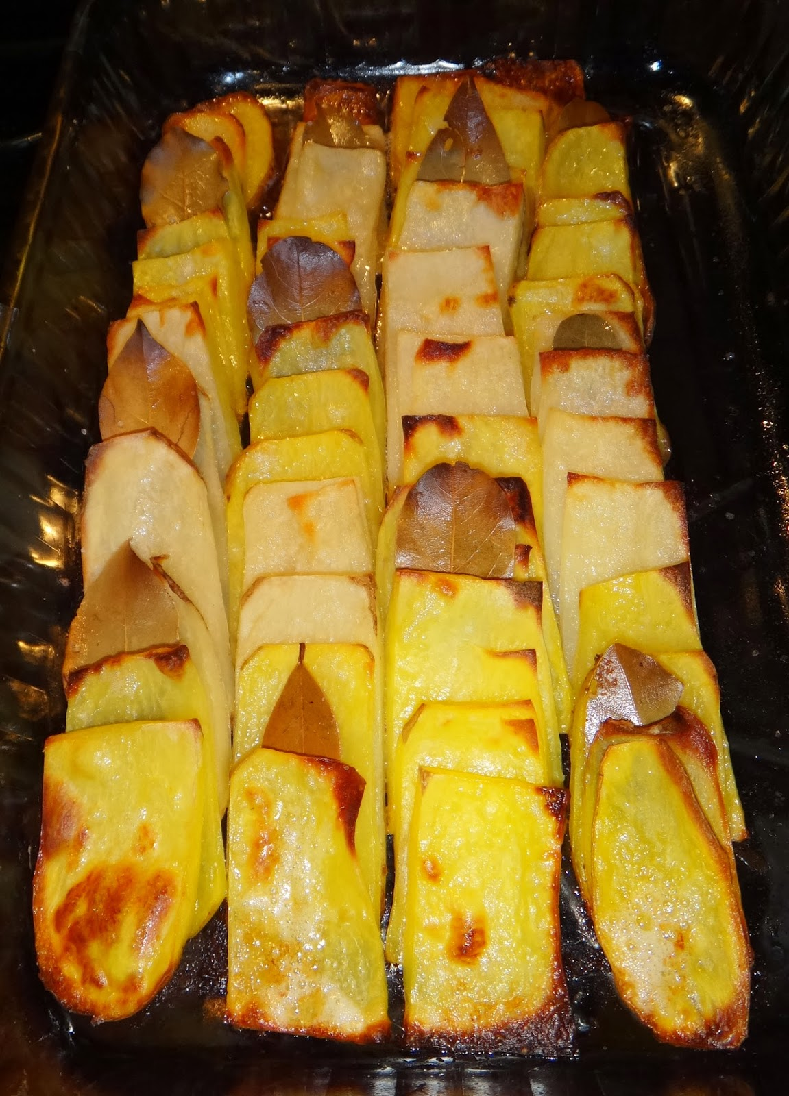 recipes, food, roasted domino potatoes
