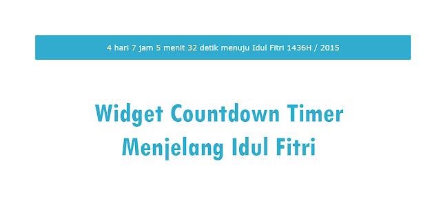 Widget Countdown Timer Menjelang Idul Fitri