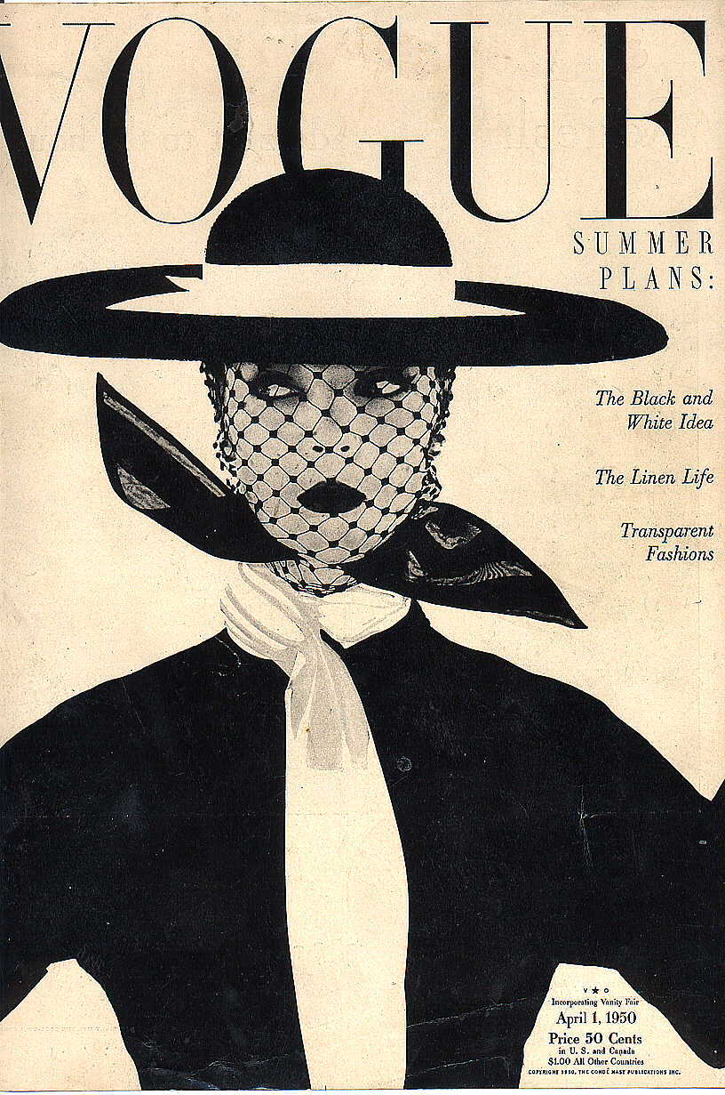 Vogue Cover 1. April 1950 Vintage Vogue Poster - etsy.com