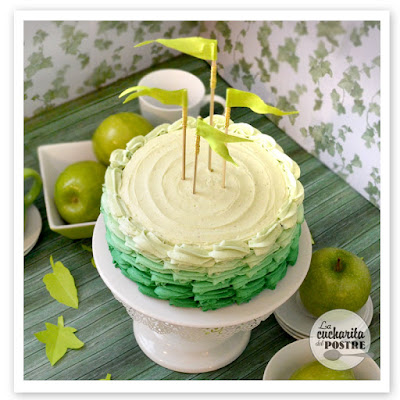 Tarta De Manzana Verde Con Degradado / Green Apple Ombre Cake