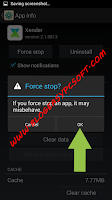 Tap on ok to Force Stop app.