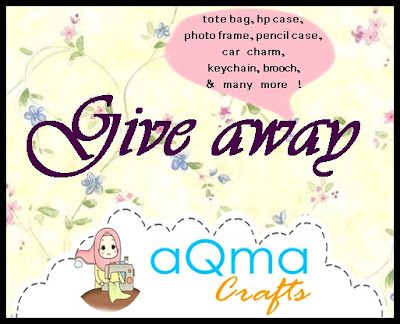 http://aqmablogshope.blogspot.com/2013/05/give-away-by-aqma-craft.html