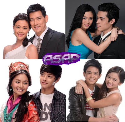 Richard-Jodi, Kim and Xian (KimXi), Kathryn and Daniel (KathNiel), Francis and Ella (Francella) on ASAP 2012 this September 16