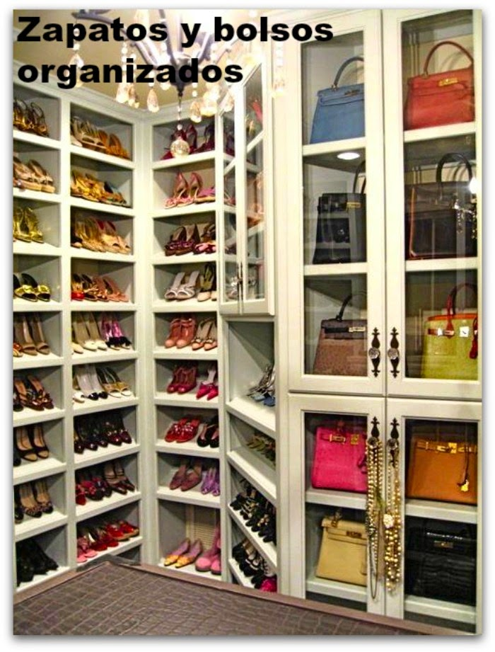 En casa de Oly: Por fin, los zapatos y bolsos estupendamente organizados