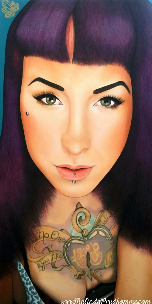 severin stargher, alt model, alternative art, beauty art, true beauty, malinda prudhomme, portrait art, toronto portrait artist, realism, portrait painting, canadian artist, realistic portraiture
