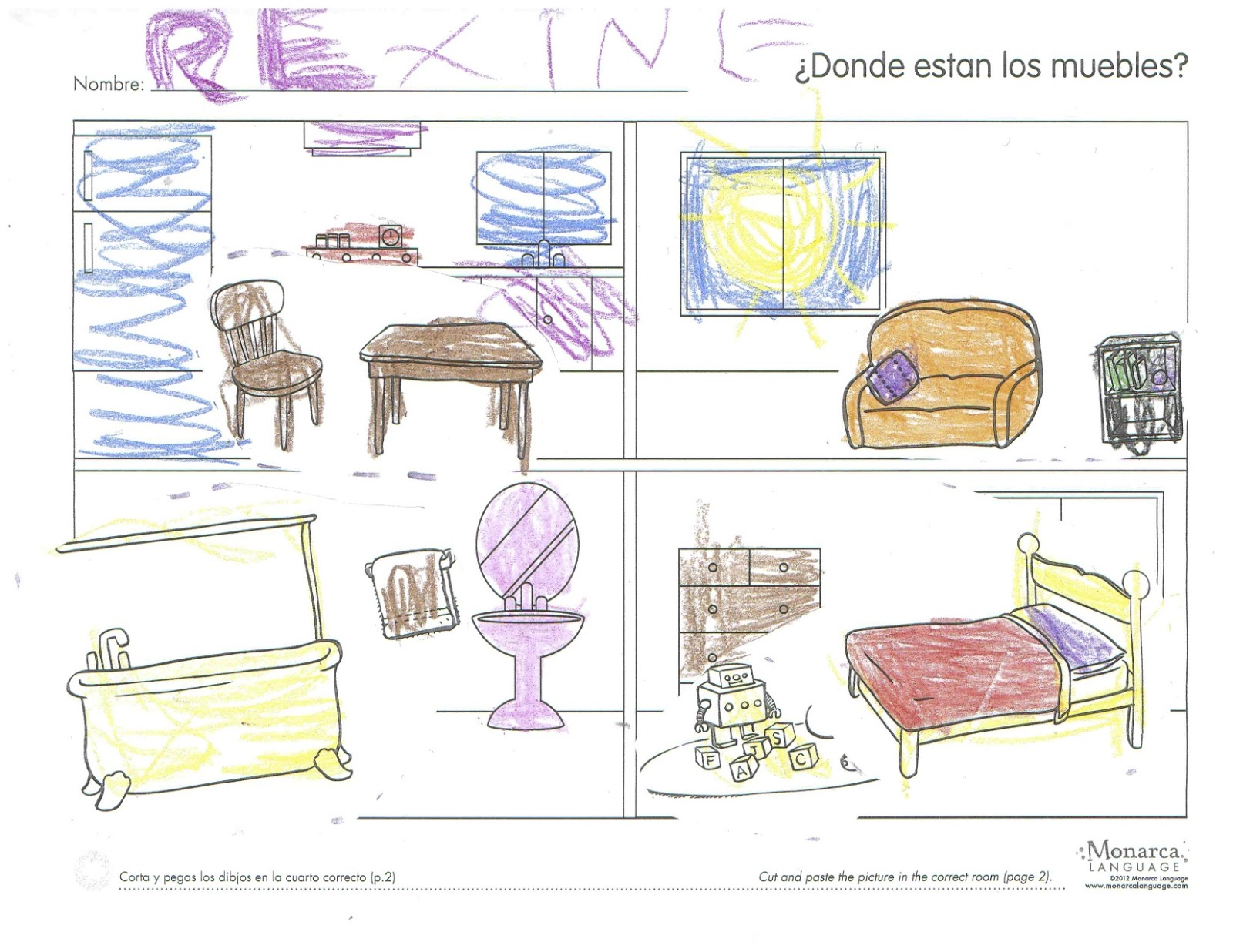 Attractive Teaching The Parts Of The House In Spanish