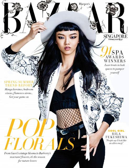 Actress, Fashion Model, @ Rila Fukushima - Harper's Bazaar Singapore, February 2016