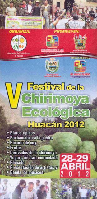 folleto festival de Chirimoya