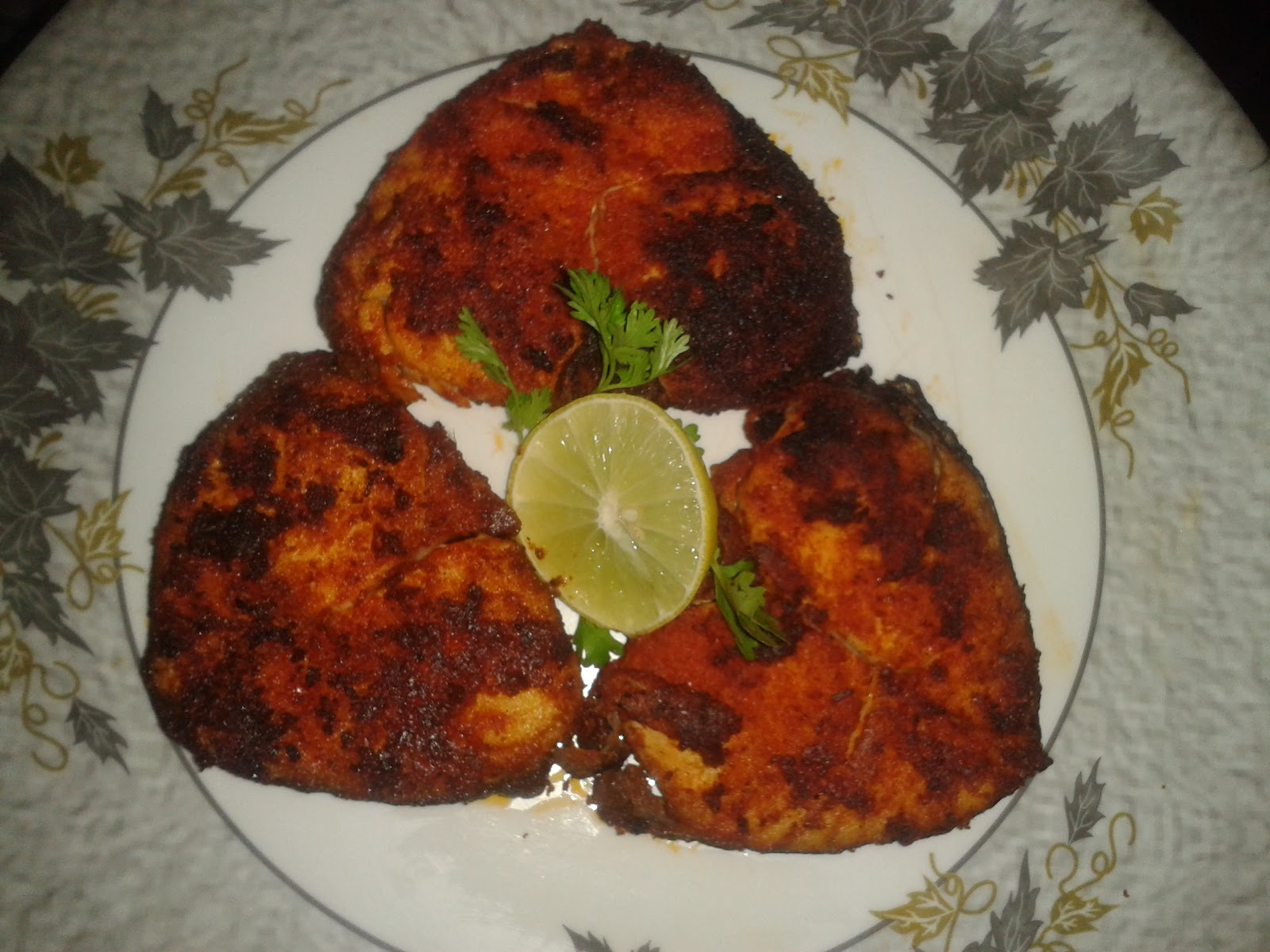 Malini 39 s delights simple fish fry for Good side dishes to serve with a fish fry