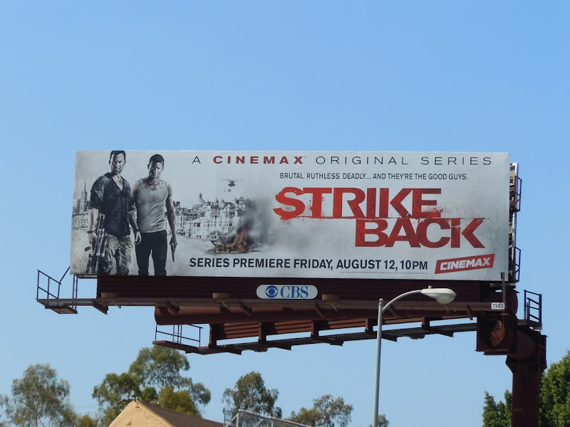 Strike Back TV billboard
