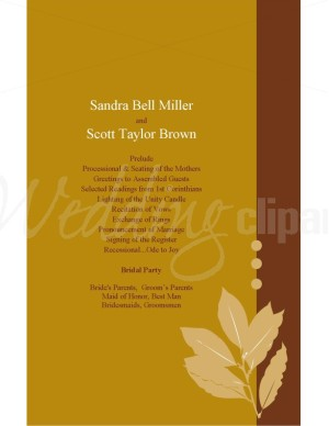 Autumn Wedding Programs3