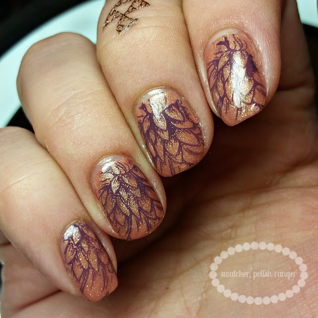 swatcher, polish-ranger | Cuccio Colour stamped nail art