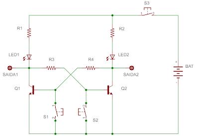 Flip-Flop com dois transistores