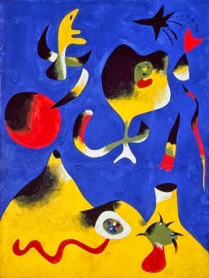 Imagen Sucesión de Miró. Entrada explicando las composiciones equilibradas, armónicas utilizando los tres colores primarios. Ejemplos de obras de Vermeer, Picasso, Miró y Mondrian. Ensayo escrito por Juan Sánchez Sotelo para la Academia de dibujo y pintura Artistas6 de Madrid. Clases y cursos para aprender a dibujar y pintar