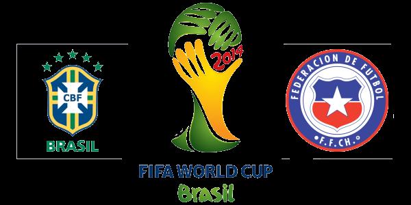 موعد وتوقيت مباراة البرازيل وتشيلي السبت 28/6/2014 في دور 16 من كأس العالم 2014