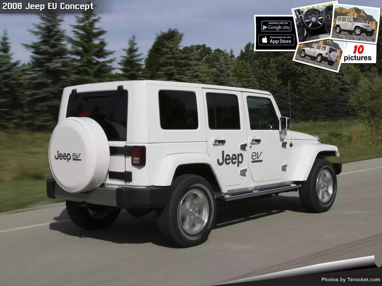 Hình ảnh xe ô tô Jeep EV Concept 2008 & nội ngoại thất