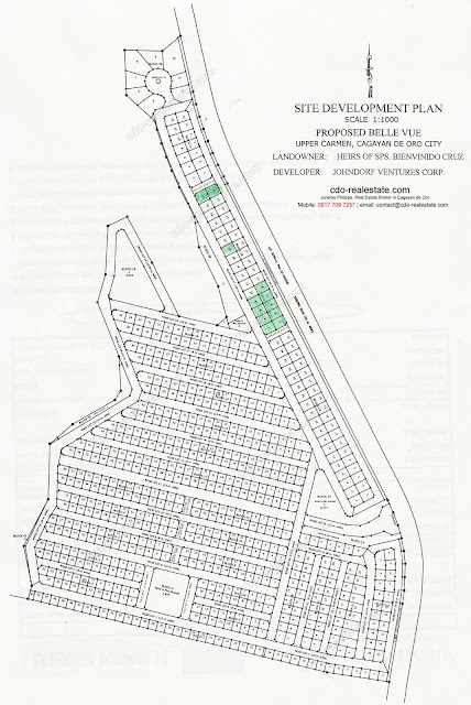 Bellevue Subdivision Map