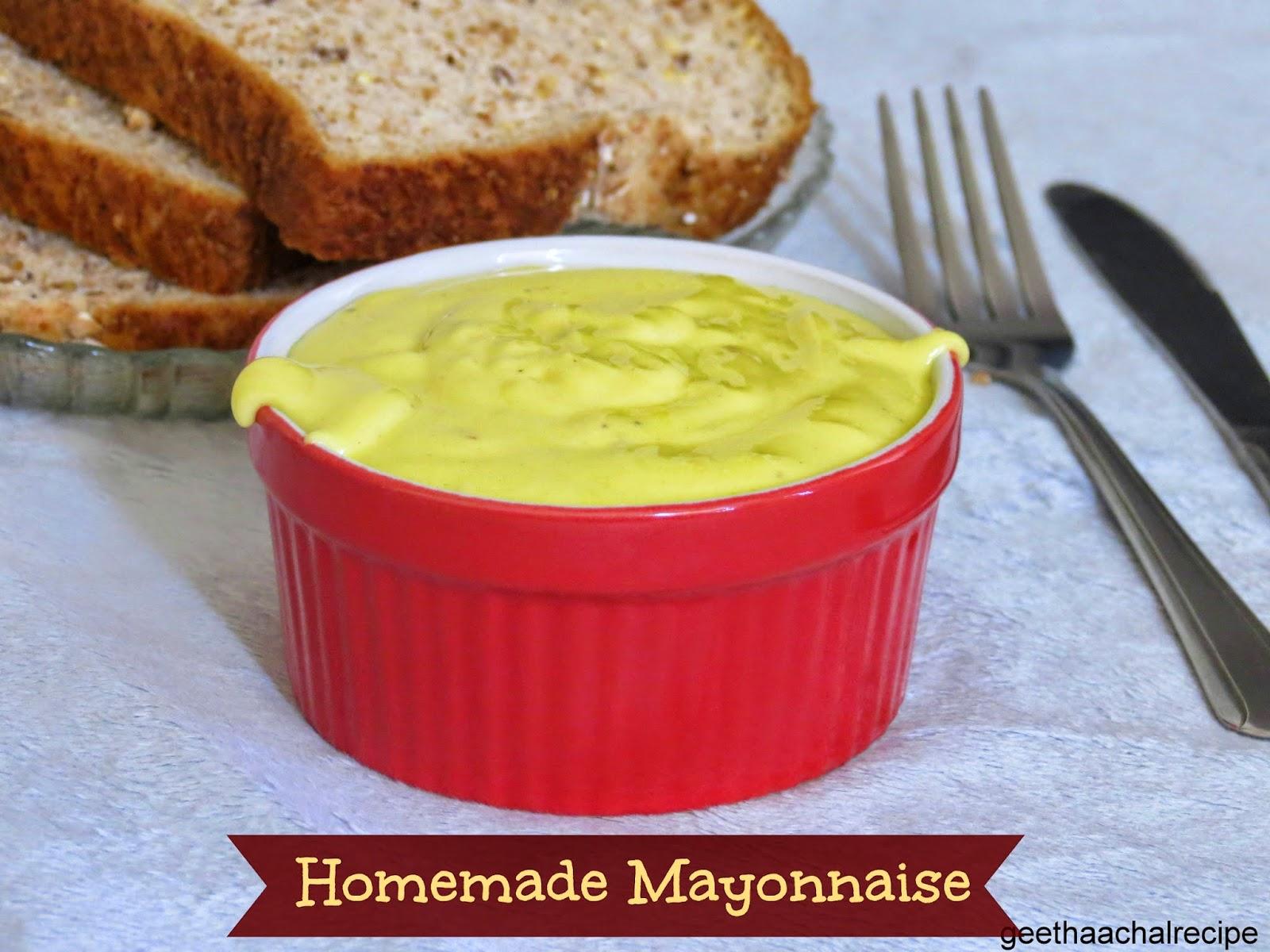 ... - Homemade Mayonnaise Recipe - Mayo using Olive oil