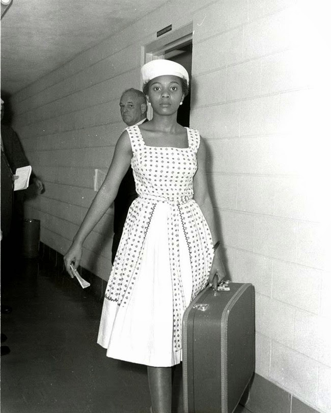 52 photos of women who changed history forever - Voting activist Annie Lumpkins at the Little Rock city jail. [1961]