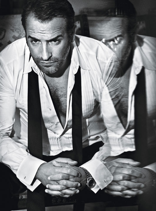 Jean dujardin by mario sorrenti homotography for Dujardin willy
