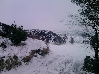 Snow on the Yorkshire moors.