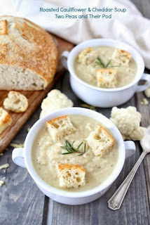 Two Peas and Their Pod's Roasted Cauliflower and Cheddar Soup