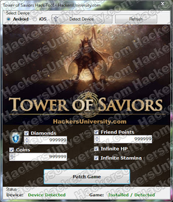 Tower of Saviors Hack Cheat Trainer Tool Generator