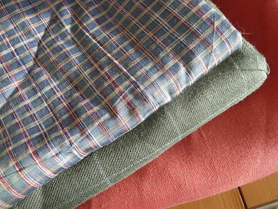 Silk, wool, linen fabrics bought from Masons, Abingdon