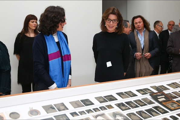 Princess Caroline of Hanover visited 'Construire une collection' or 'Building a Collection' exhibition