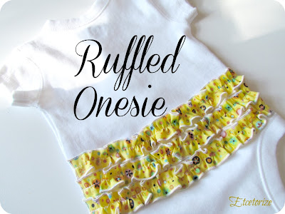 easy sewing, #ruffled onesie, #baby, DIY baby
