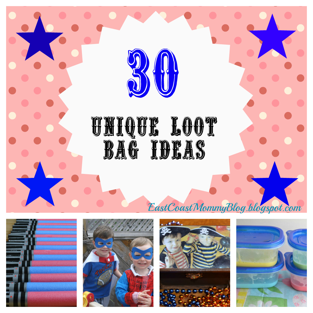 Are 15 loot bag ideas for specific party themes and 15 loot bag ideas