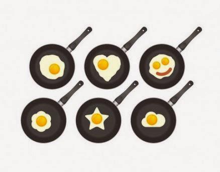 Fritar ovos em forma de flor é possível