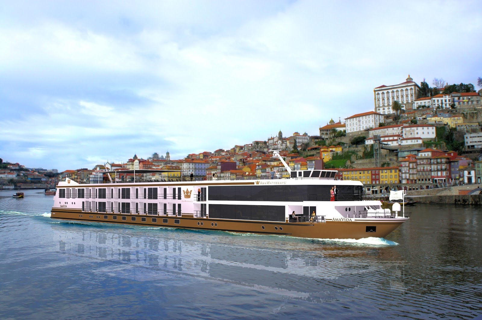 AmaWaterways' 'AmaVida' debuted on the Douro River in Portugal in 2013. Photo: Property of AmaWaterways. Unauthorized use is prohibited.